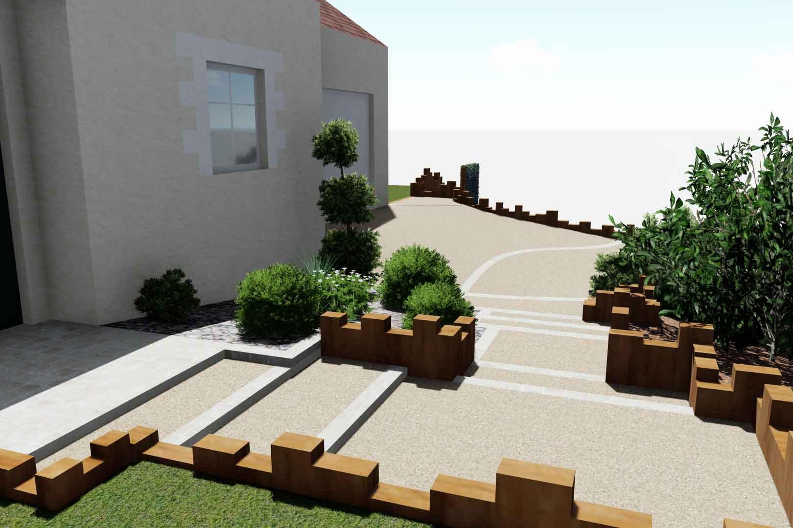 Pour le revêtement de vos accès, Serrault Jardins, paysagiste à la Ville aux Dames.