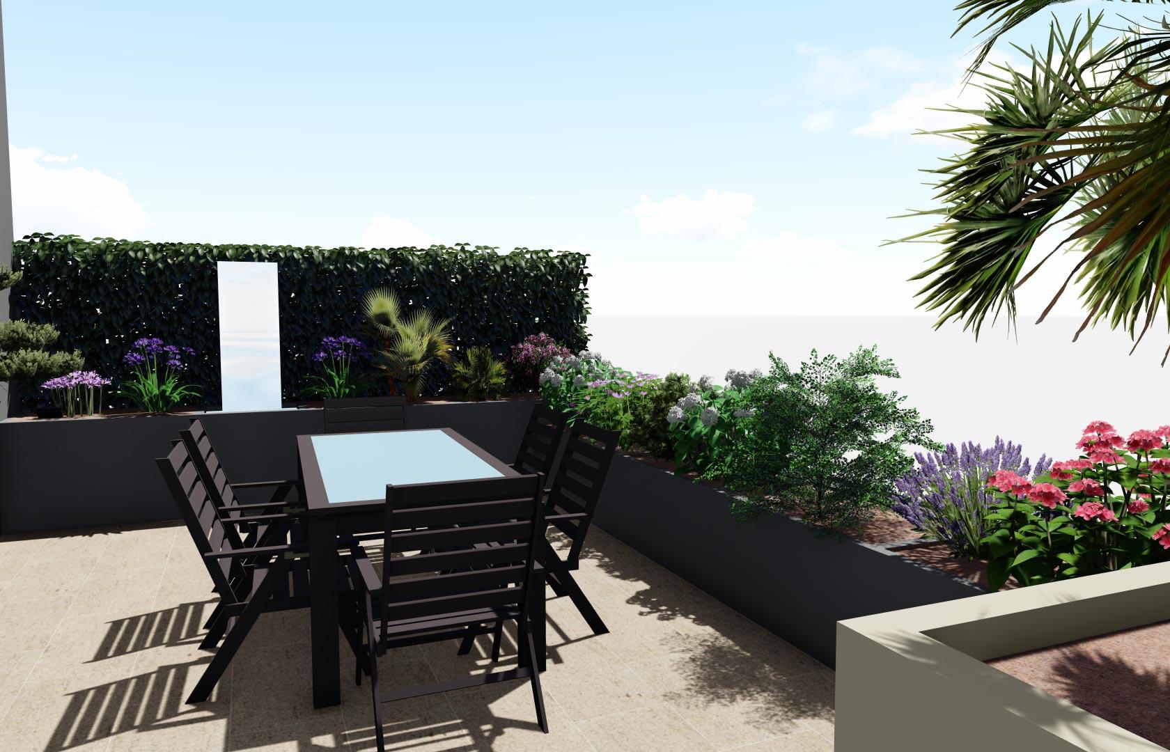 Entreprise du paysage, Serrault Jardins réalise des terrasses en bois sur-mesure.