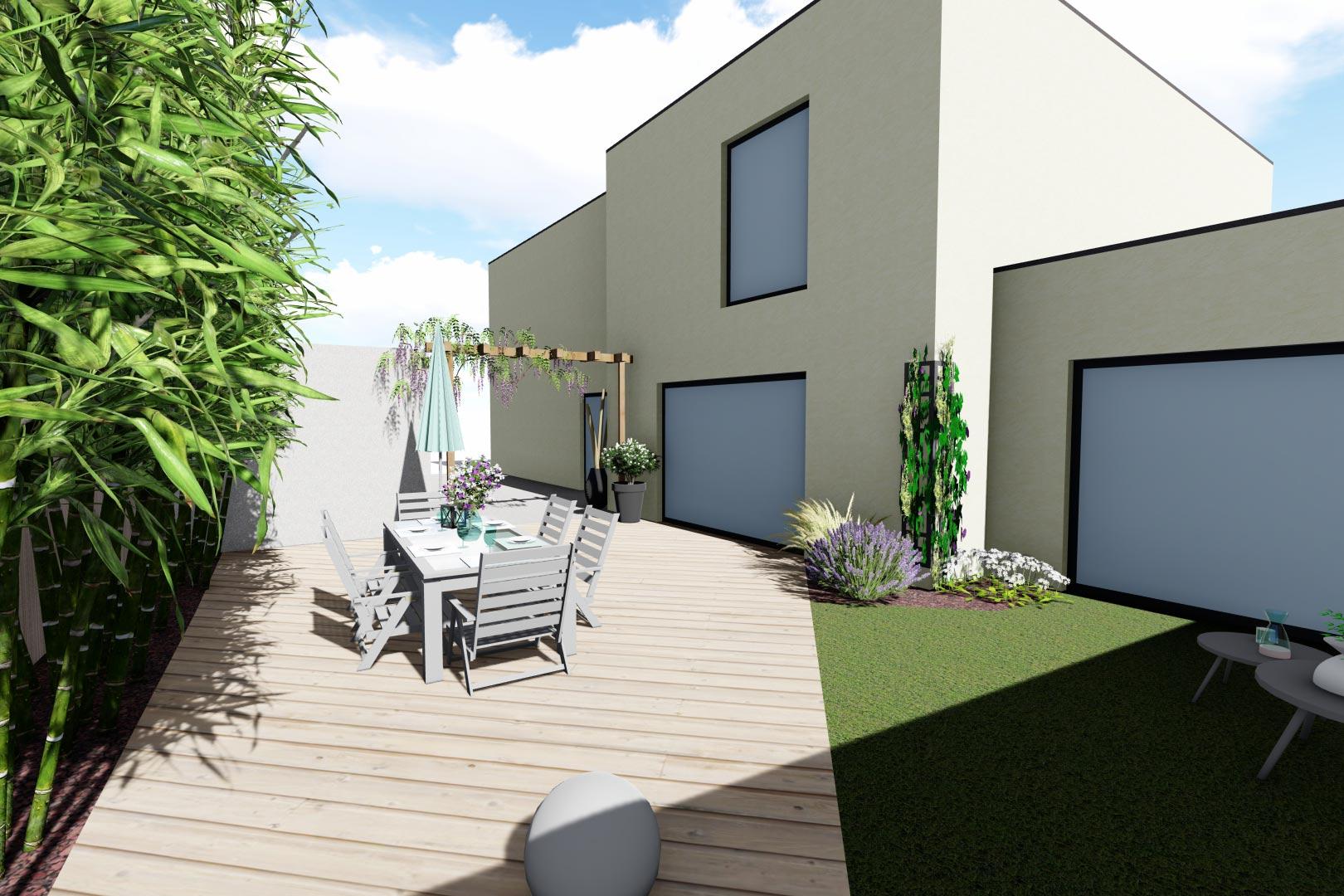Serrault Jardins, vous propose une large gamme de matériaux pour votre terrasse.