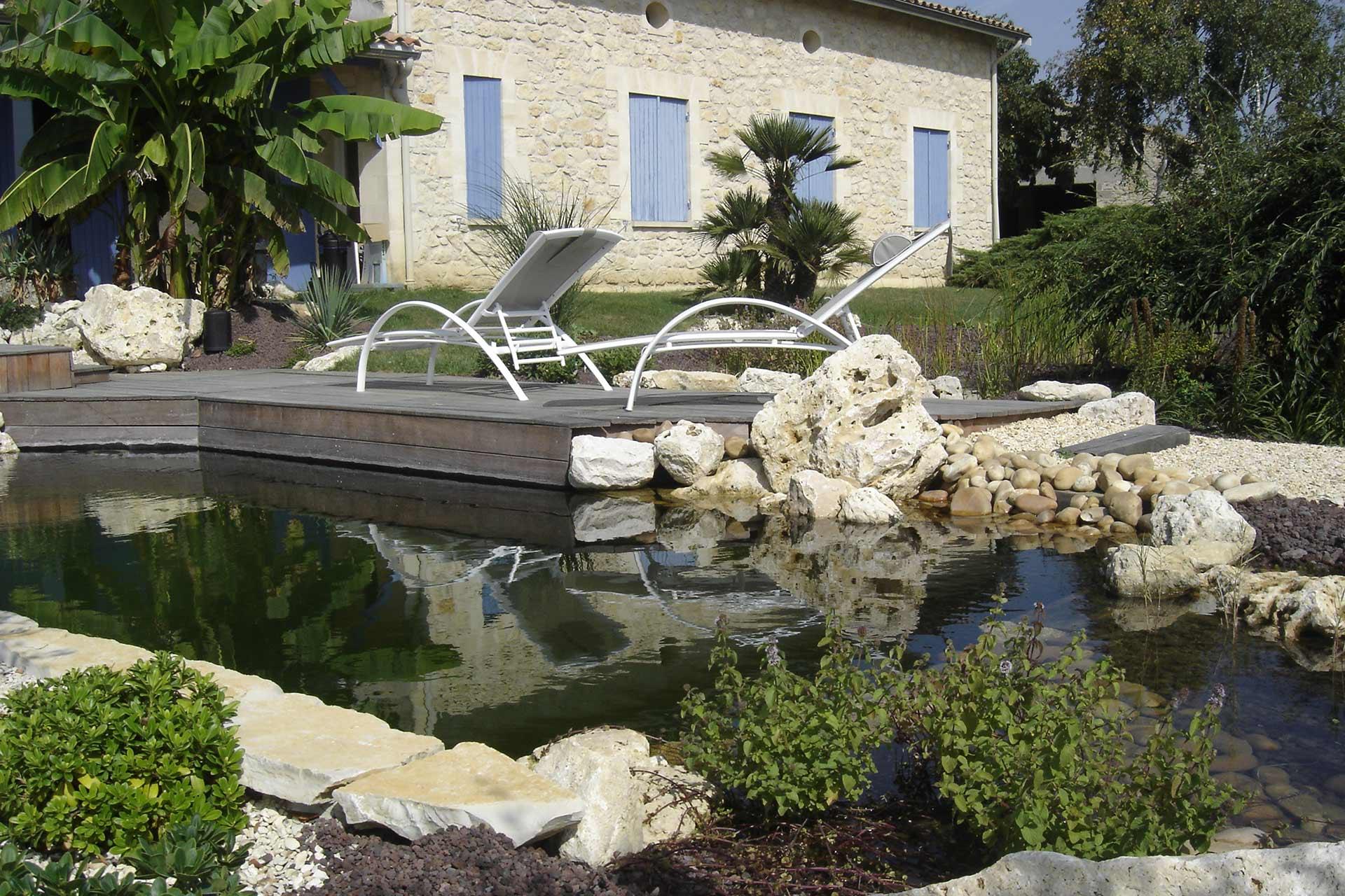 Serrault Jardins, créateur de magnifiques bassins à la Ville aux Dames.