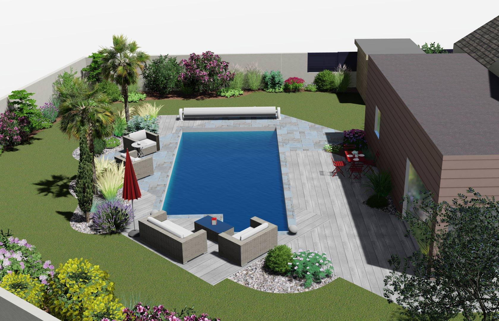 Serrault Jardins, vous propose de visionner votre jardin en 3D.