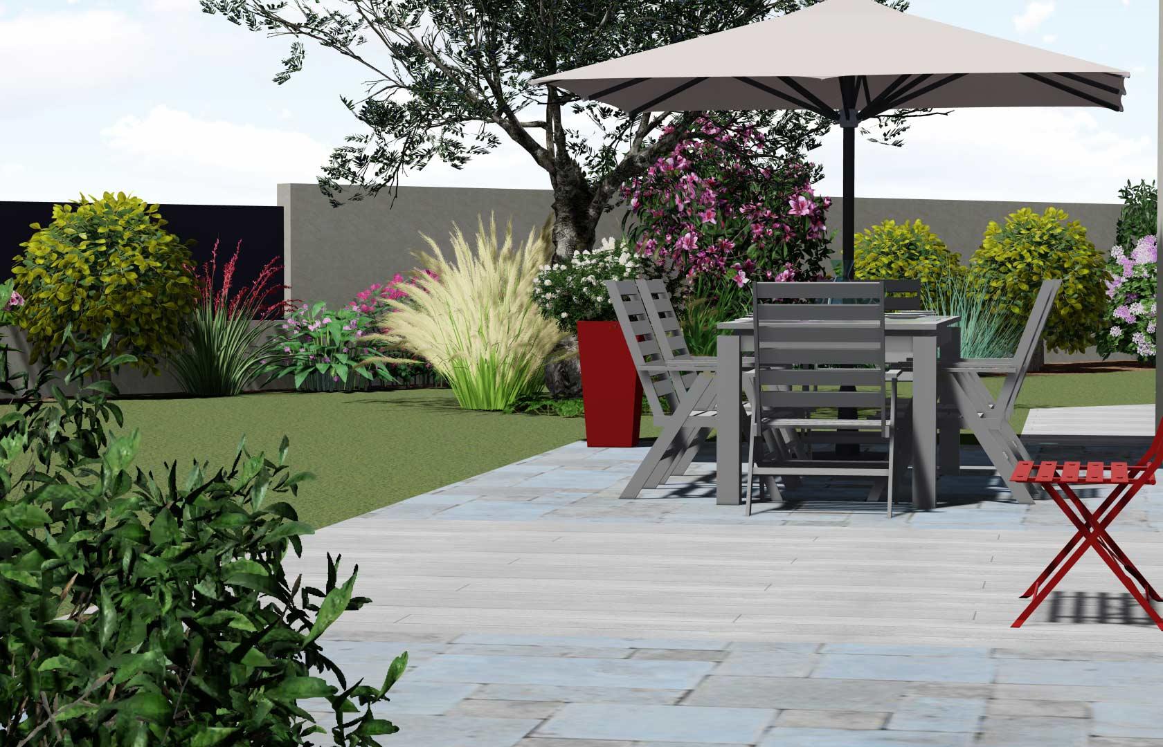 Serrault Jardins réalise votre terrasse en pavé, pierres naturelles ou encore en travertin.