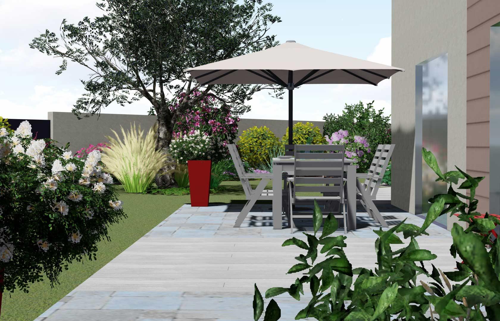 Serrault Jardins, paysagiste à la Ville aux Dames, vous propose de nombreuses solutions pour votre terrasse.