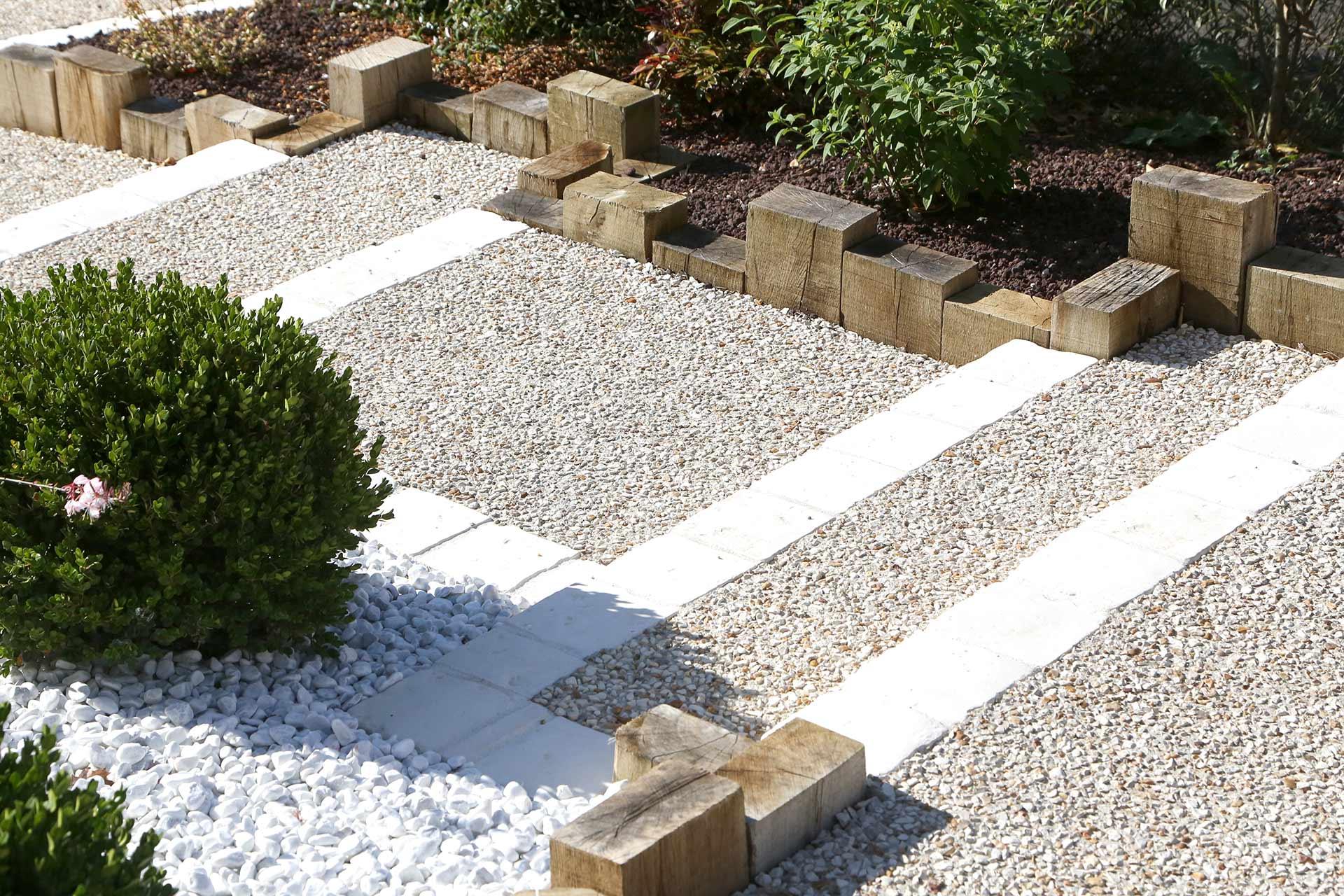 Allée De Garage En Béton Drainant béton désactivé - serrault jardins